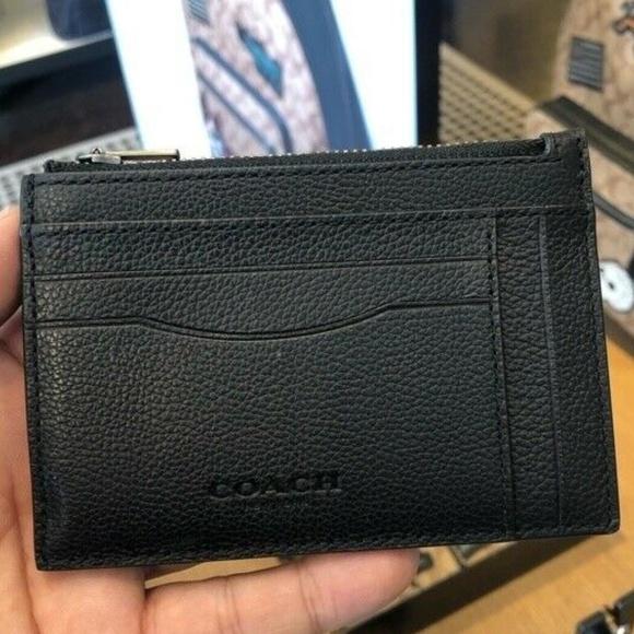 pretty nice 43c9b c4ea7 Coach Men's Multiway Zip Leather Card Case Wallet Boutique